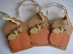 Fall Gift Tags Thanksgiving Gift tag by CraftyClippingsbyPeg