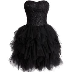 Fashion Plaza Mini Princess Strapless Ruffled Homecoming Cocktail... (73 CAD) ❤ liked on Polyvore featuring dresses, strapless cocktail dress, mini dress, strapless homecoming dresses, flouncy dress and homecoming dresses