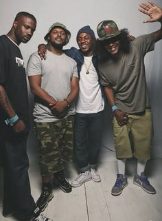 Q, Kendrick, Jay Rock and Ab Soul. Black Hippy TDE