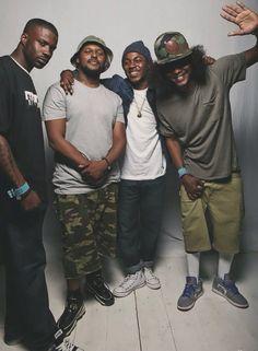 Q, Kendrick, Jay Rock and Ab Soul. Black Hippy TDE