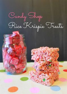 Starbursts + Nerds = Candy Shop Rice Krispie Treats for #TrickorTreatBlogHop2013.  Yum!
