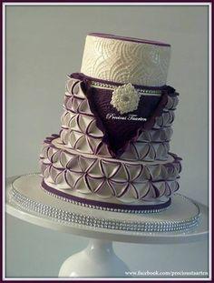 Purple & White Cake