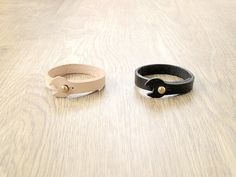 Industrial style Baba leather bracelet by BackDiscontent on Etsy
