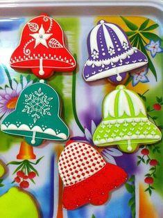 Christmas Sugar Cookies, Christmas Gingerbread, Holiday Cookies, Christmas Treats, Christmas Baking, Handmade Christmas, Fancy Cookies, Iced Cookies, Cupcake Cookies