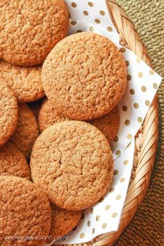 Ginger Snap Cookies ~ Saving Room for Dessert Best No Bake Cookies, Best Holiday Cookies, Best Cookies Ever, Drop Cookies, Yummy Cookies, Cupcake Cookies, Christmas Cookies, Gingerbread Cookies, Cupcakes