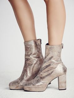 30395d0ff326 FP Collection Day For Night Platform Ankle Boot at Free People Clothing  Boutique Metallic Leather