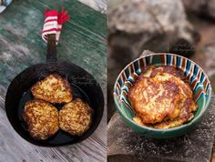 potato pancakes | Note: try these with chia-gel