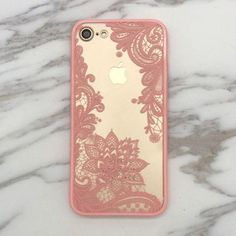 Floral Lace Paisley Flower Clear Case For iphone 7 7plus /6 6S plus #iphone7case,