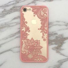 Floral Lace Paisley Flower Clear Case For iphone 7 7plus /6 6S plus #iphone7case,