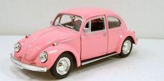RMZ city 1967 Classic Volkswagen VW Beetle 1:32 scale model car Pink R09 #Kinsmart #VW