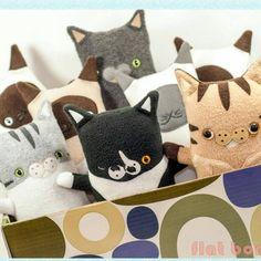 Custom cat plush dolls now available.