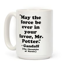 May The Force Be Ever In Your Favor #nerdy #mugs #coffeemugs #geekgifts #fandoms