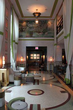 Lobby of Hotel Victor South Beach Miami, Florida