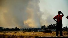 Grassfire in Epping.  Photo by Jason South.  18th February 2013.
