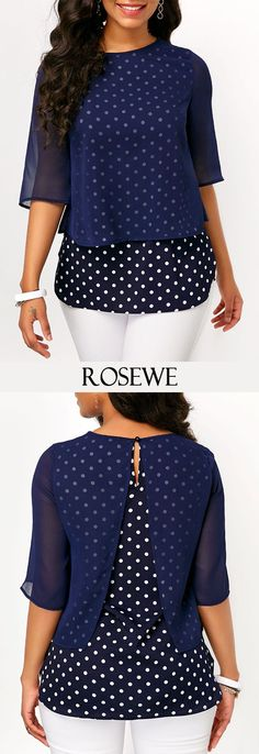 use the ide for tops you like but are missing sleaves African Wear, African Fashion, Blouse Patterns, Blouse Designs, Diy Fashion, Fashion Dresses, Diy Vetement, Trendy Tops For Women, Navy Blouse
