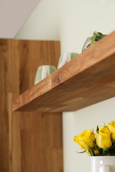 Each of our oak floating shelves comes with specialist hidden brackets that allows them to attach seamlessly to your kitchen walls.