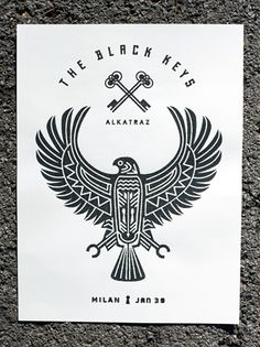 The Black Keys ALKATRAZ Poster  By Keith Davis Young