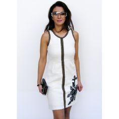 White Gayomba Smash Dress Winter Colors, Winter Dresses, Cold Shoulder Dress, Unique, Prints, Clothes, Fashion, Outfit, Moda