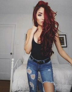 (Pin now, read later) elm drive designs hair in 2019 dyed hair, hair color Gorgeous Hair, Dark Hair, Hair Trends, Hair Inspiration, Curly Hair Styles, Cool Hairstyles, Wavy Haircuts, Men's Hairstyle, Formal Hairstyles