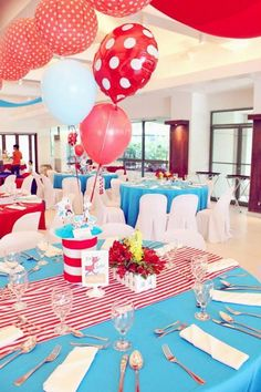 Cat in the Hat Party via Kara's Party Ideas   Kara'sPartyIdeas.com #CatInTheHat #Birthday #Party #Idea #Supplies #DrSeuss (13)