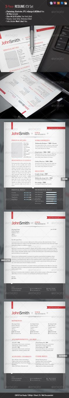 Clean, One-page #Resume - Resumes Stationery Download here https - one page resume