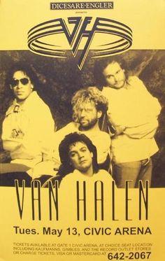 Limited Van Halen Live Concert Poster 1995 Rare