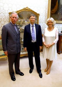 Bill Gates with Prince Charles and Camilla at Windsor Castle