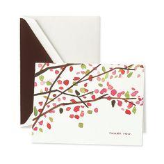 cherry blossom Thank you card  + katespade