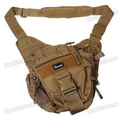 Material: high quality 1000D nylon + thickening sponge material - Durable military zips and other accessories - Color: coyote brown http://j.mp/1toE67L