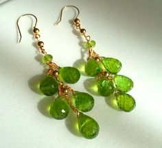 Peridot earrings in Gold Filled