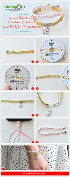 How to Make Waxed Polyester Cord Kumihimo Bracelet and Braided Nylon Thread Bracelet from LC.Pandahall.com