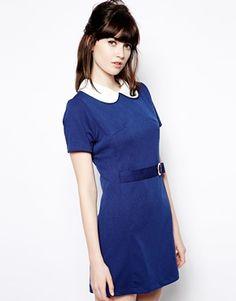 Pop Boutique Textured Swing Dress with Belt