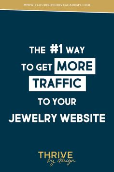Getting high volume traffic to your website isn't as great as it sounds. It's gotta be the right kind of traffic if you're looking to make any money. Modern Jewelry, Silver Jewelry, Silver Ring, Website Names, Silver Engagement Rings, Ring Engagement, Business Names, Business Tips, Online Business