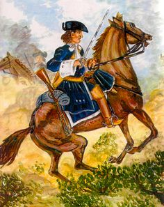 Spanish Seville Cuirassiers in battle, War of the Spanish Succession