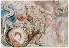 Le magnifiche illustrazioni della Divina Commedia di William Blake #illustrations
