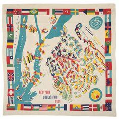 Marguerita Mergentime, New York World's Fair tablecloth, 1939. Michael Fredericks, © Mergentime Family Archives