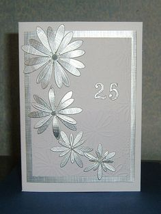 Silver wedding anniversary card (ref 955) £1.50