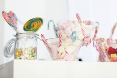 Set up a candy table at your next get-together and serve childhood favorites!
