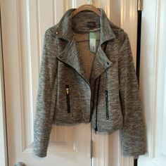 Market & Spruce Elissa French Terry Moto Jacket. My friend has this - I tried it on and loved it!!