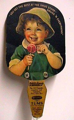 Advertising fan for TUMS, no date, possibly in the early 30's.