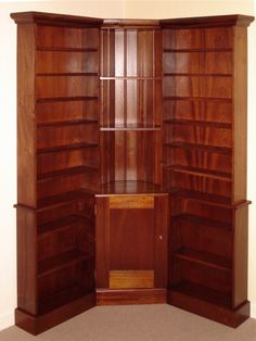 Bookcase Corner Unit With Cupboard By Brian Hayes Furniture Belfast Lisburn Northern Ireland