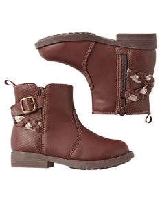 Baby Girl OshKosh Strappy Ankle Boots | Carters.com