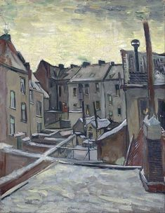 , Antwerp in the Snow, December 1885. Oil on canvas, 44.0 x 33.5 cm. Van Gogh Museum, Amsterdam.