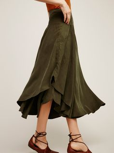 Free Falling Military Skirt   Super soft military-inspired skirt featuring a…