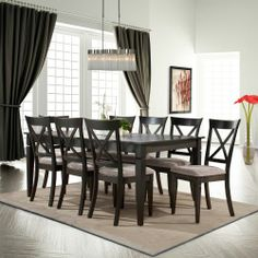 Toluca Lake 9Piece Dining Set With Upholstered Chairs  Room Gorgeous 9 Pc Dining Room Sets Design Inspiration