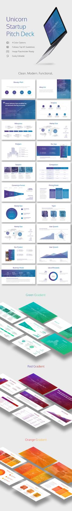 Buy Unicorn Startup Pitch Deck by PitchPlease on GraphicRiver. Secure Funding for Your Unicorn Startup Impress investors with your unicorn idea by using this clean and modern pitch. Pitch Presentation, Business Presentation, Presentation Design, Company Presentation, Web Design, Slide Design, Layout Design, Template Web, Keynote Design