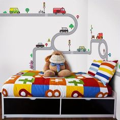 decowall muurstickers road and cars xl - Google Search