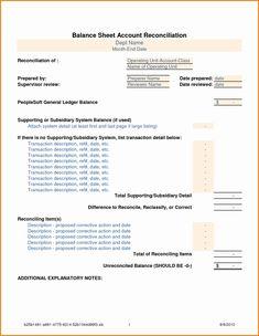 Balance Sheet Reconciliation Template Luxury Balance Sheet Reconciliation Template Balance Sheet Reconciliation Balance Sheet Balance Sheet Template