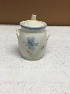 """Vintage Pinewood Valley Clay Pottery Miniature 3 1/8"""" Jug With Lid 