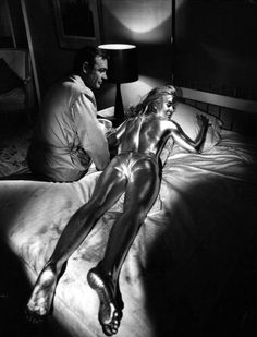 """Sean Connery and Shirley Eaton in """"Goldfinger"""", (1964)"""